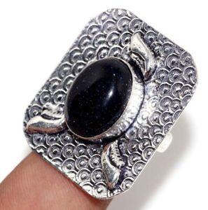 Purple Sandstone 925 Silver Plated Handmade Gemstone Ring us 8 Ethnic Jewelry GW