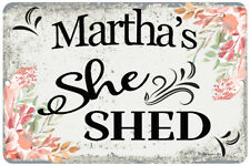 Personalized She Shed Sign - Garden Sign - Home Decor - 8x12 Metal Sign