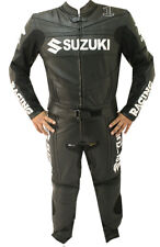 SUZUKI GSXR MOTORCYCLE LEATHER SUIT MENS MOTOGP MOTORBIKE LEATHER JACKET TROUSER