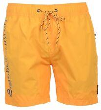 Mens Crosshatch DESIGNER Swim Shorts Mesh Lined Casual Beach Swimming Trunks Saffron 2xl