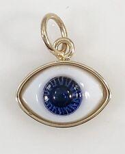 14K Yellow Gold Evil Eye Protection Strong Pendant/ Charm, Medium, Dije de Ojo