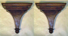 "WALL SHELVES -  ""STRATFORD"" DECORATIVE WALL BRACKET PAIR - WOODEN WALL BRACKETS"
