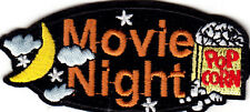"""MOVIE NIGHT"" - IRON ON EMBROIDERED PATCH - MOVIES - CAMERA - FILM"