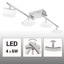 LED Deckenleuchte Deckenlampe 4-flammig 24W Wohnzimmer Spot-Strahler schwenkbar