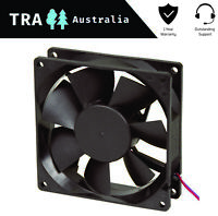 2x 80MM 12 VOLT BRUSHLESS DC COOLING VENTILATION FAN CARAVAN RV PART ACCESSORIES