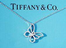 Tiffany & Co Sterling Argent Petit Papillon Breloque Collier