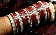 Rajwadi Wedding Dulhan Set Kundan Chura Bangle Bridal Set  Red Acrylic Plastic