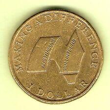 2003 AUSTRALIAN  VOLUNTEERS  CIRCULATED AUSTRALIAN $1 COIN