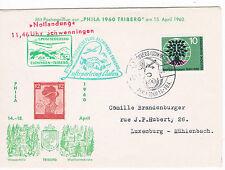 1960. Alemania. Sobre con sello de Alemania y viñetas Aereas
