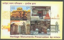 India Miniature Sheet Stamps Heritage Monument 2009