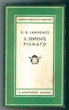 LAWRENCE D.H.  IL SERPENTE PIUMATO MONDADORI 1935 I° EDIZ. MEDUSA 50