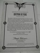 WARNER BROS BATMAN BEYOND:ANIMATED MAQUETTE Statue #705 w/COA & BOX DC Direct