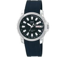 Q&Q A166-302Y Mens Dress Sport Watch Day Date Water Resistant Wristwatch New
