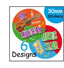 Musique Musical Mélange École Les Enfants Professeurs Autocollant Récompense