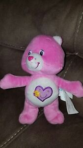"""Take Care Care Bear from the Cuddle Pairs 7"""" Plush Toys Hugging Set 2003"""