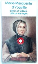Marie-Marguerite d'Youville relic card of patron of widows, difficult marriages.