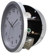 Wanduhr mit Versteck Safe 26cm Geheimversteck Dosensafe Cansafe silber Uhr