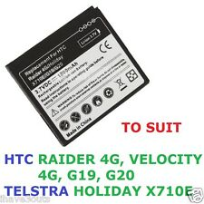 Quality 1800mAh Replacement Battery HTC Radar Velocity G20 Telstra Holiday X710E