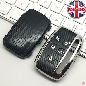 Carbon Fibre Pattern TPU Car Key Fob Cover Case For Land Range Rover Jaguar XF