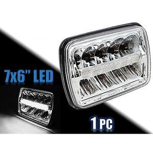 """7X6"""" CHROME LED HID  Light Bulbs Clear Sealed Beam Headlamp Headlight"""