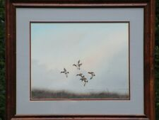 Glynn Moore Signed Watercolor, Ducks in Flight