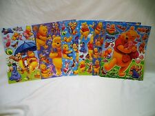 Disney Winnie The Pooh & Co 6x A4 Sheets of Shiny Foil Stickers (448) Party Bags