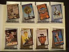 Briefmarken Cook Islands 1984, Plakate Olympische Spiele, 8 Werte gestempelt