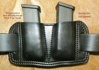 Gary C's Leather Double MAG POUCH for Glock 17/19/22/23/26/27/31/32/33 magazines