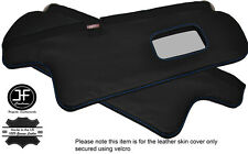 BLUE STITCHING 2X SUN VISORS LEATHER COVERS FITS TOYOTA COROLLA GT AE82