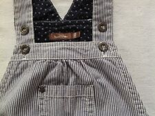 Adorable petite salopette en jean rayée marine de chez Bout'chou 24 mois