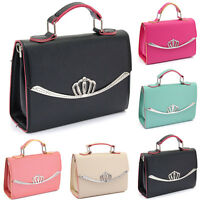 Womens Faux Leather Purse Handbag Wallet Crossbody Shoulder Bag Large Clutch Bag