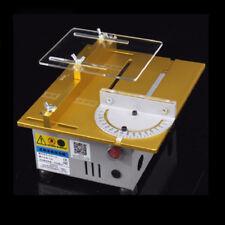 Mini Table Saw Woodworking DIY Model Cutting Machine Electric Polisher Blade New