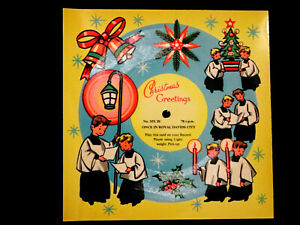 VINTAGE 1950's MELODY CHRISTMAS CARD MX20 PLAYABLE 78rpm 'IN ROYAL DAVIDS CITY'