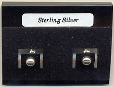 Silver Ball 4mm Sterling Silver 925 Studs Earrings Carded