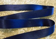 "5/8"" WIDE DOUBLE FACE SILK SATIN RIBBON - NAVY BLUE # 27- BY THE YARD"