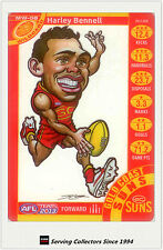 2013 AFL Teamcoach Cards Magic Wild Card MW8 Harley Bennell (Gold Coast Suns)