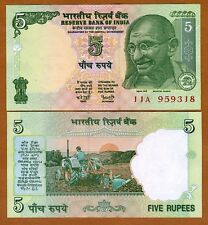 India, 5 Rupees, ND (2002),  P-88Ac, UNC > Tractor