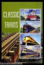 Train, Railway Track, Locomotives, Union Island MNH SS - T04