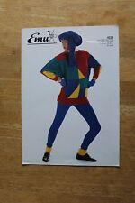 Vintage Knitting Patterns - Emu DK Ladies Long Line Sweater  4028 Six Sizes