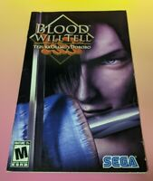 Blood Will Tell PS2 Playstation 2 Authentic Original * MANUAL ONLY *