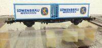 Röwa 2327 H0 Container-Tragwagen Löwenbräu München der DB Epoche 4/5,3-Leiter AC