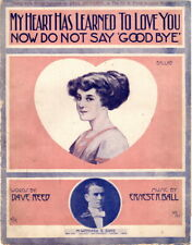 My Heart Has Learned To Love, Jack Richardson photo, Vintage Sheet Music, 1910