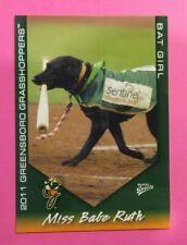 2011 MultiAd Sports, Greensboro Grasshoppers. Bat Girl - MISS BABE RUTH