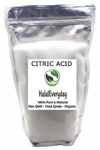 Citric Acid - Anhydrous 100% Pure NON GMO Organic Vegan FOOD GRADE Bath Bomb