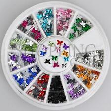 Nail Rhinestones Gems Art Diamante Fashion Glitter Jewels Multi Colour Butterfly