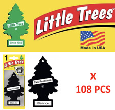 Black Ice Freshener 10155  Little Trees Air Little Tree MADE IN USA Pack of 108
