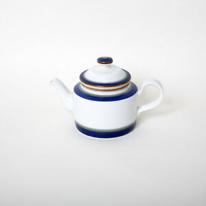 nearly mint Rare porcelain teapot by Porsgrund of Norway with handpainted Tana decoration designed by Sandnes Eystein 1980s edition