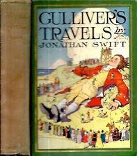 1930 GULLIVER'S TRAVELS JONATHAN SWIFT COLOR ILLUSTRATED FANTASY GIFT IDEA