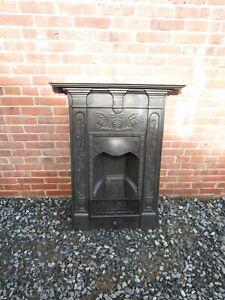Original Art Nouveau Cast Iron Bedroom Fireplace 1905