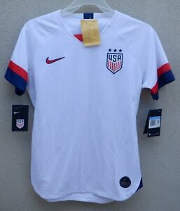 Nike Team USA White Slim Fit Women's USWNT Soccer Jersey $90 - READ!
